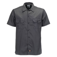 Dickies kortærmet Workshirt i grå og slim fit