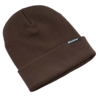 Dickies beanie i Dark Brown med Dickies logopatch