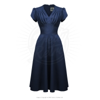 Retro Swing Dress i navyblå