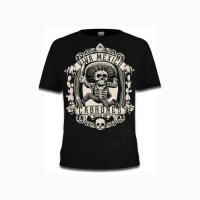 Viva Mexican Cabrones - sort t-shirt med mexicansk tryk