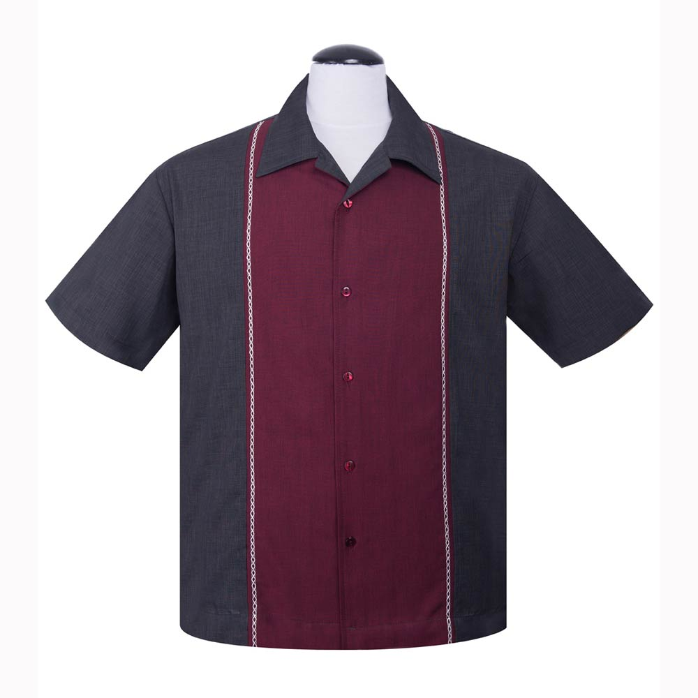 dce7a74c2b6 Diamond Stitch Button Up klassisk koksgrå skjorte fra Steady Clothing