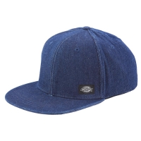 Dickies East Rockhill Cap med snapback og Dickies logo patch i rinsed denim