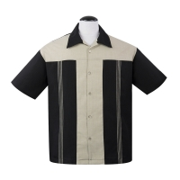 The Oswald Button Up er klassisk skjorte fra Steady Clothing i sort og beige