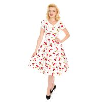 Cherry-On-Top Swing klassisk rockabilly 50'er kjole med det fineste kirsebærprint