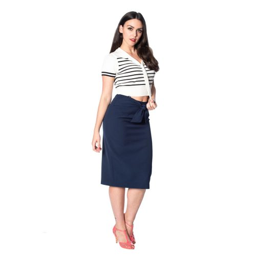 Sailor Stripe Top i offwhite med sorte striber