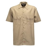 Dickies kortærmet Relaxed Fit Workshirt i Khaki